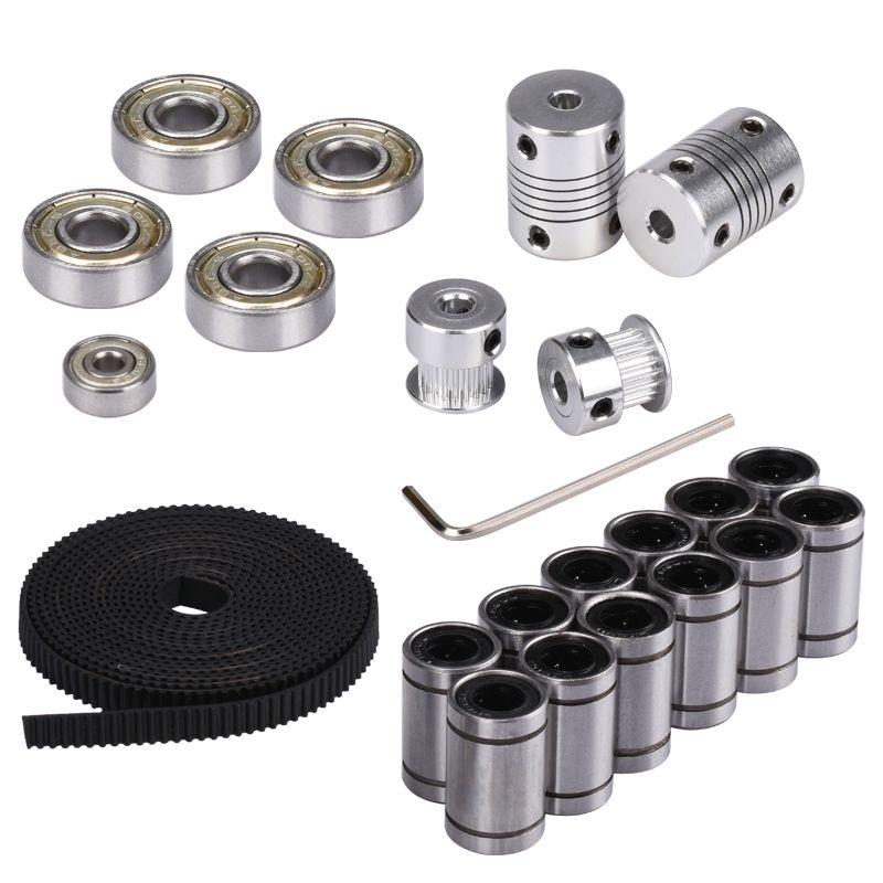 3D Printer Parts <font><b>Reprap</b></font> i3 Movement Kit GT2 Belt Timing Pulley 608ZZ Bearing LM8UU 624ZZ Bearing Coupler Shaft 5*5 or 5*8