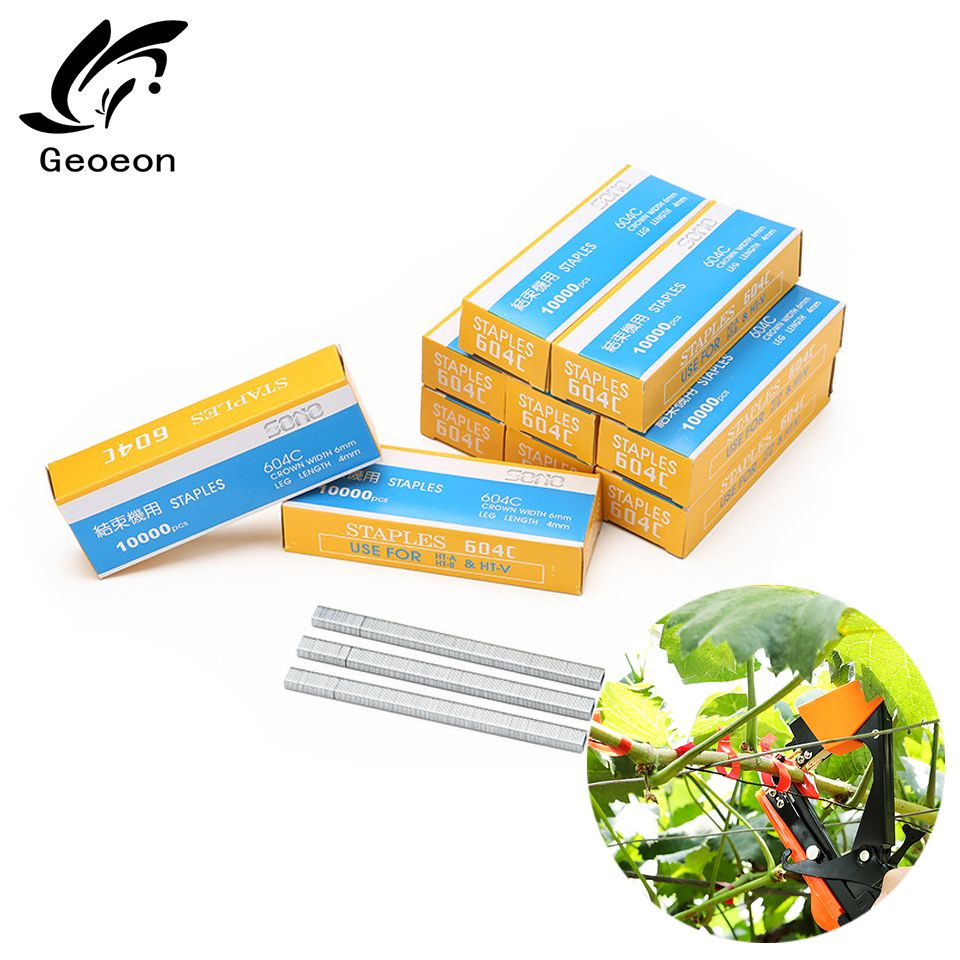 10000pcs Tapetool Staple Pin Nail Tape Tool Tapener Tying Fruit Tree Secateurs Machine Pack Plant Garden Trunk Connect Tool A20