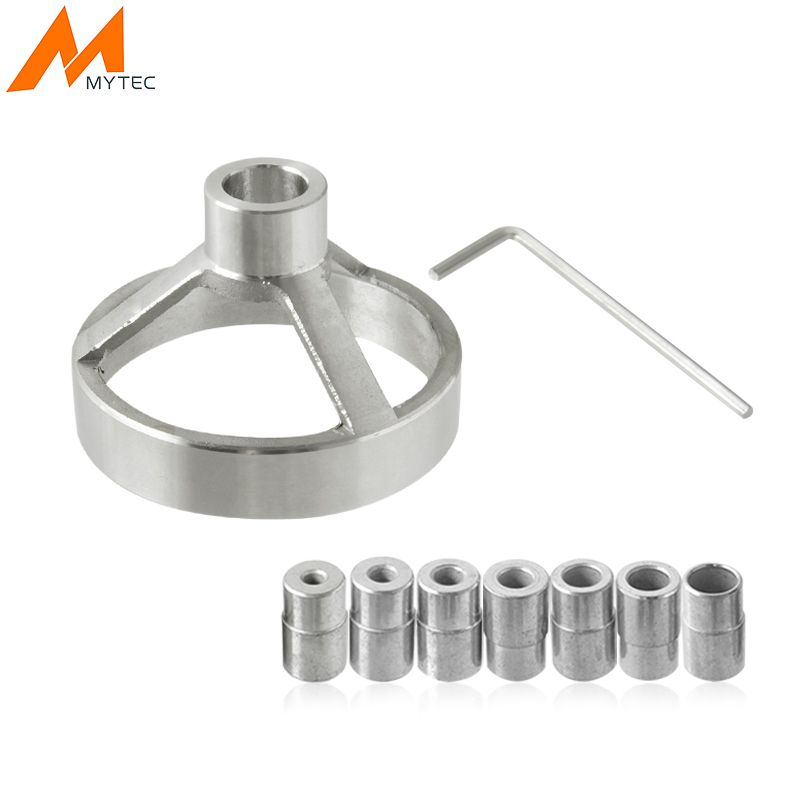 MYTEC 90 Degree Drill Guide 5/6/7/8/9/10/12mm Drill Bit Hole Puncher Locator Jig Stainless Steel Bushing Woodworking Tools