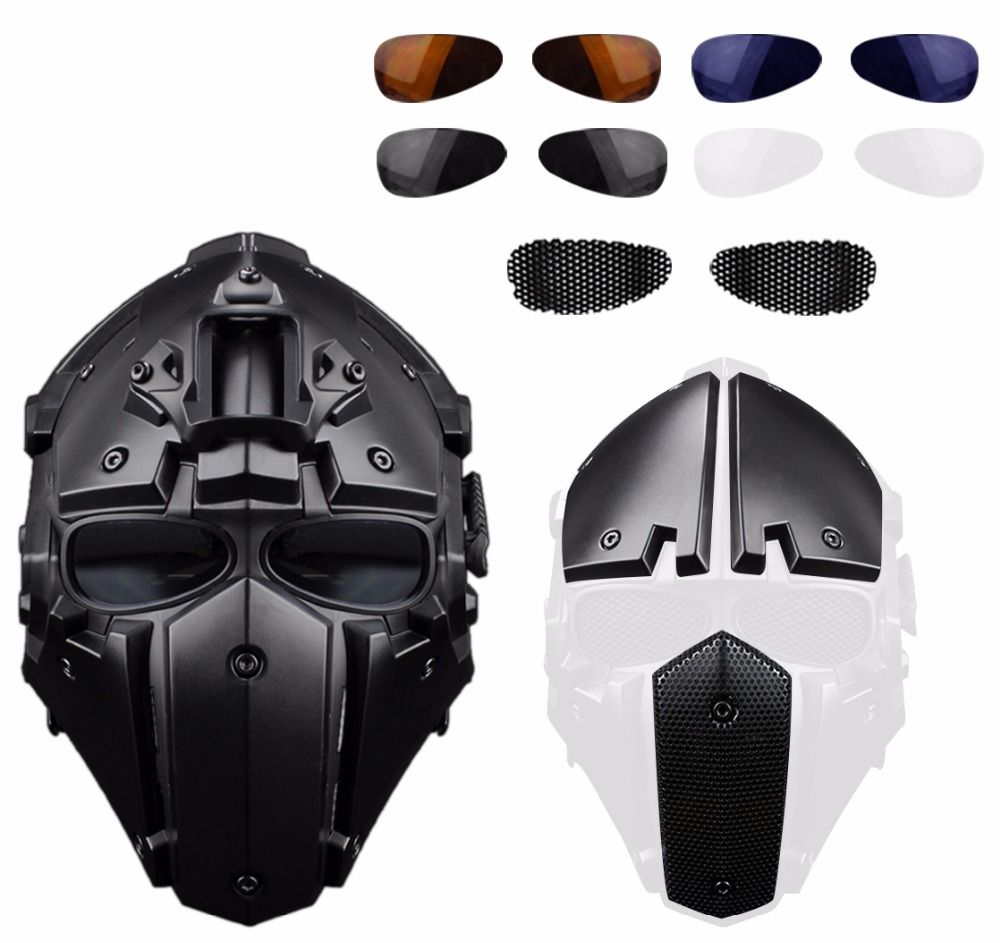 WoSporT 2018 NEW Sport Tactical OBSIDIAN GREEN GOBL TERMINATOR Cycling Helmet Mask Plus Mask Hunting Paintball Military