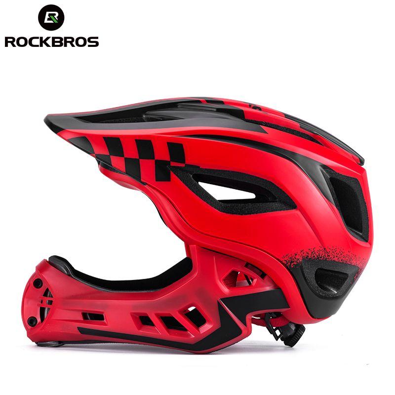ROCKBROS Radfahren Bike Fahrrad Voll Abgedeckt Kind Helm EPS Parallel Auto Motorrad Kinder Helm 2 In 1 Sport Sicherheit Helme