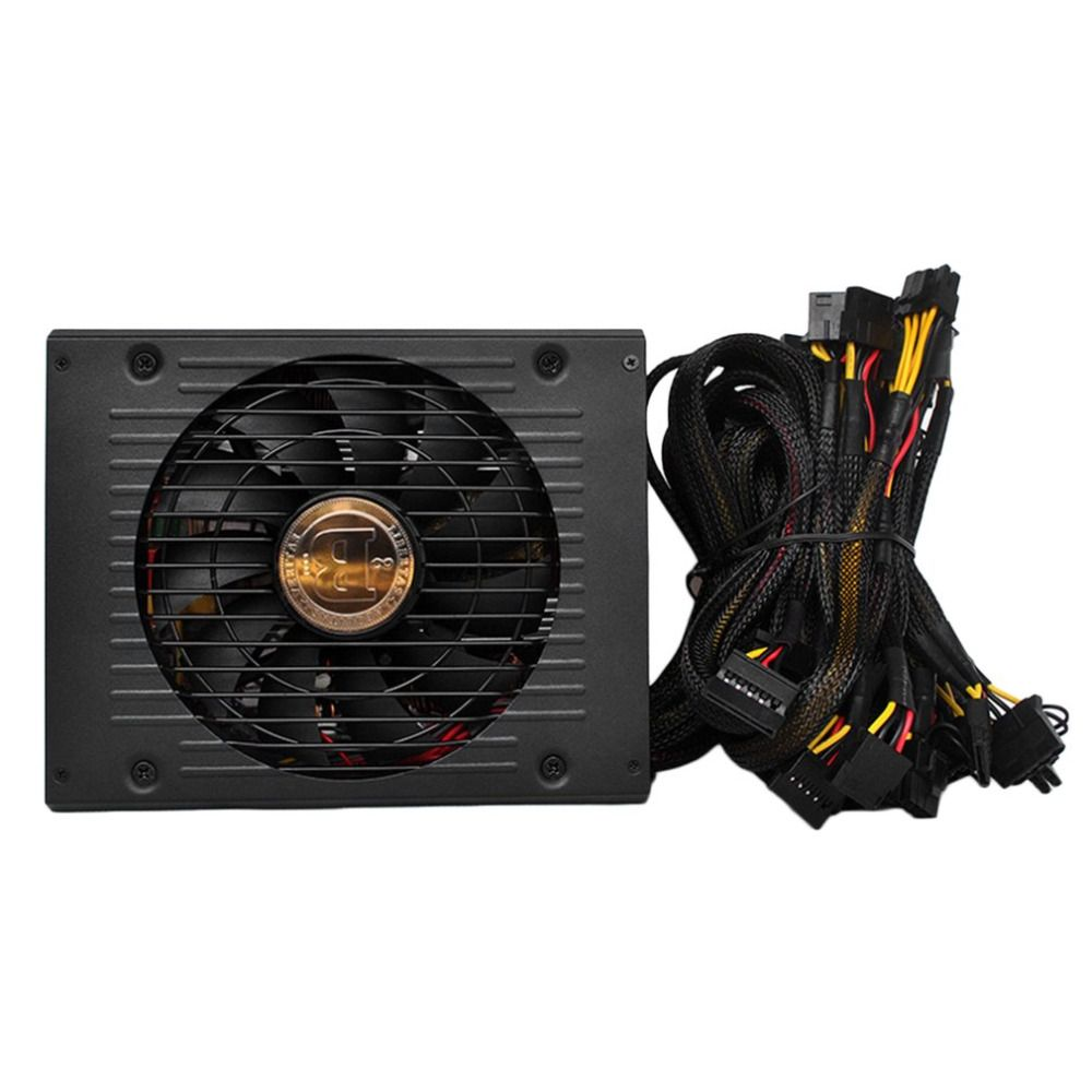 High Efficiency Rated 1800W Miner Power Supply All Wire with Net for PC Mining Miner Machine with Low Noise Cooling Fan
