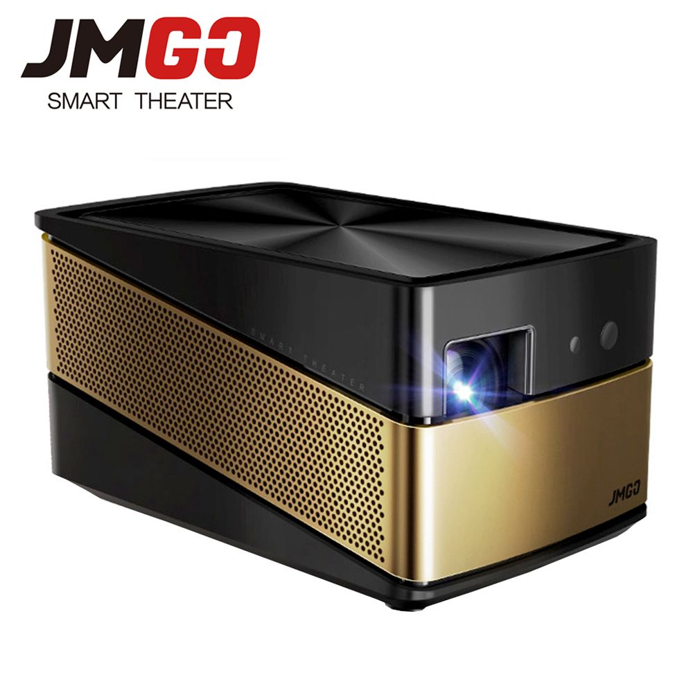JMGO V8 Full HD Projector, 1100 ANSI Lumens, 1920x 1080 Resolution. Based on Android 4.4, WIFI, Bluetooth. 4K Video Projector