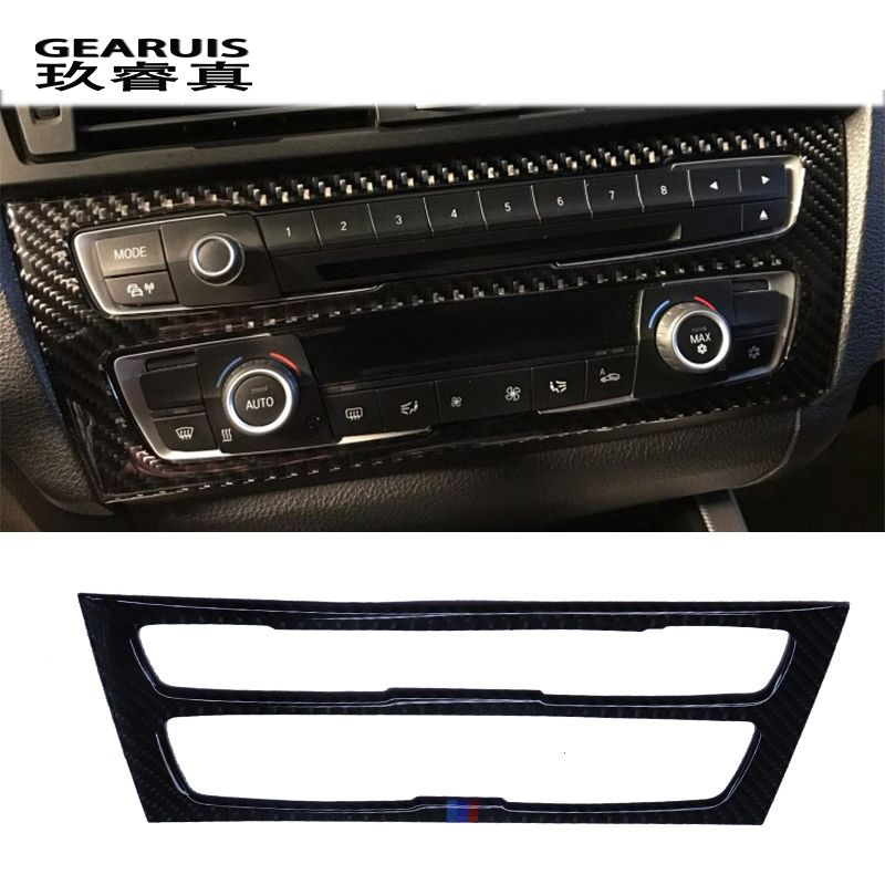 stainless steel Carbon Fiber Car Interior Air Conditioning CD Panel Cover Trim For BMW F20 1 Series 118i 120i 135i 2012-2015