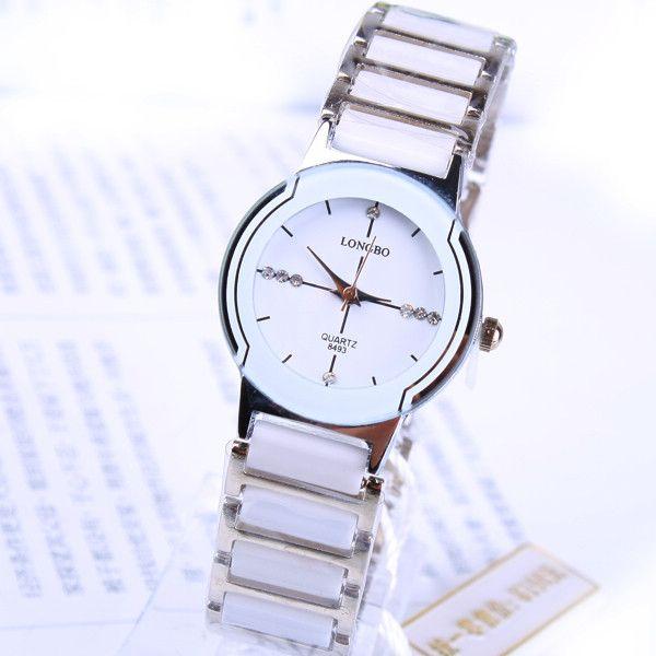 Longbo Элитный бренд женский Relogio feminino Бизнес женское платье горный хрусталь Reloj Mujer имитация часы Керамика Повседневные часы