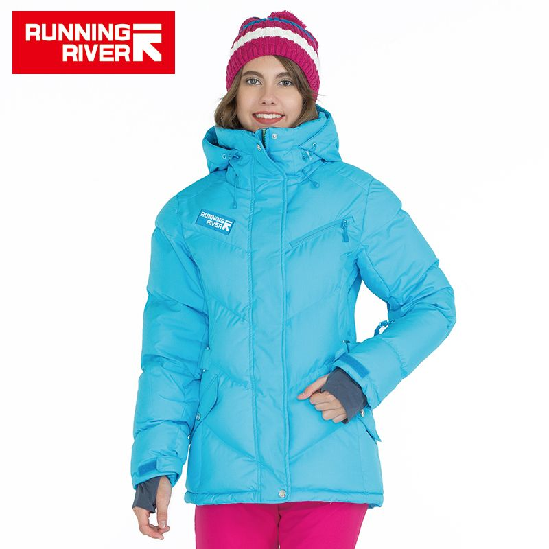 FLUSS Marke Winter Frauen Daunenjacke 5 Farben 6 größen Wandern & Camping Daunenjacken Warme Outdoor-bekleidung # D5142