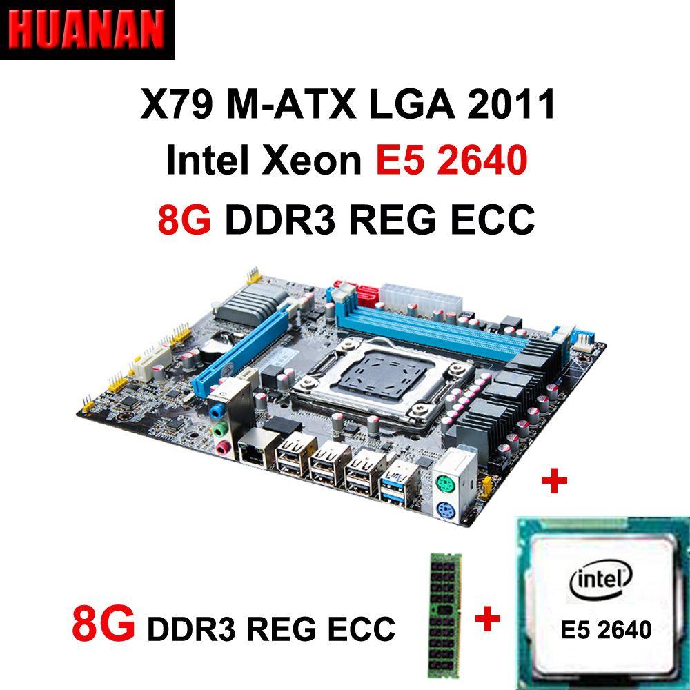 Empfohlen HUANAN X79 MOTHERBOARD-FREIES CPU RAM combos X79 LGA2011 motherboard CPU Intel Xeon E5 2640 RAM 8G DDR3 ECC REG all getestet