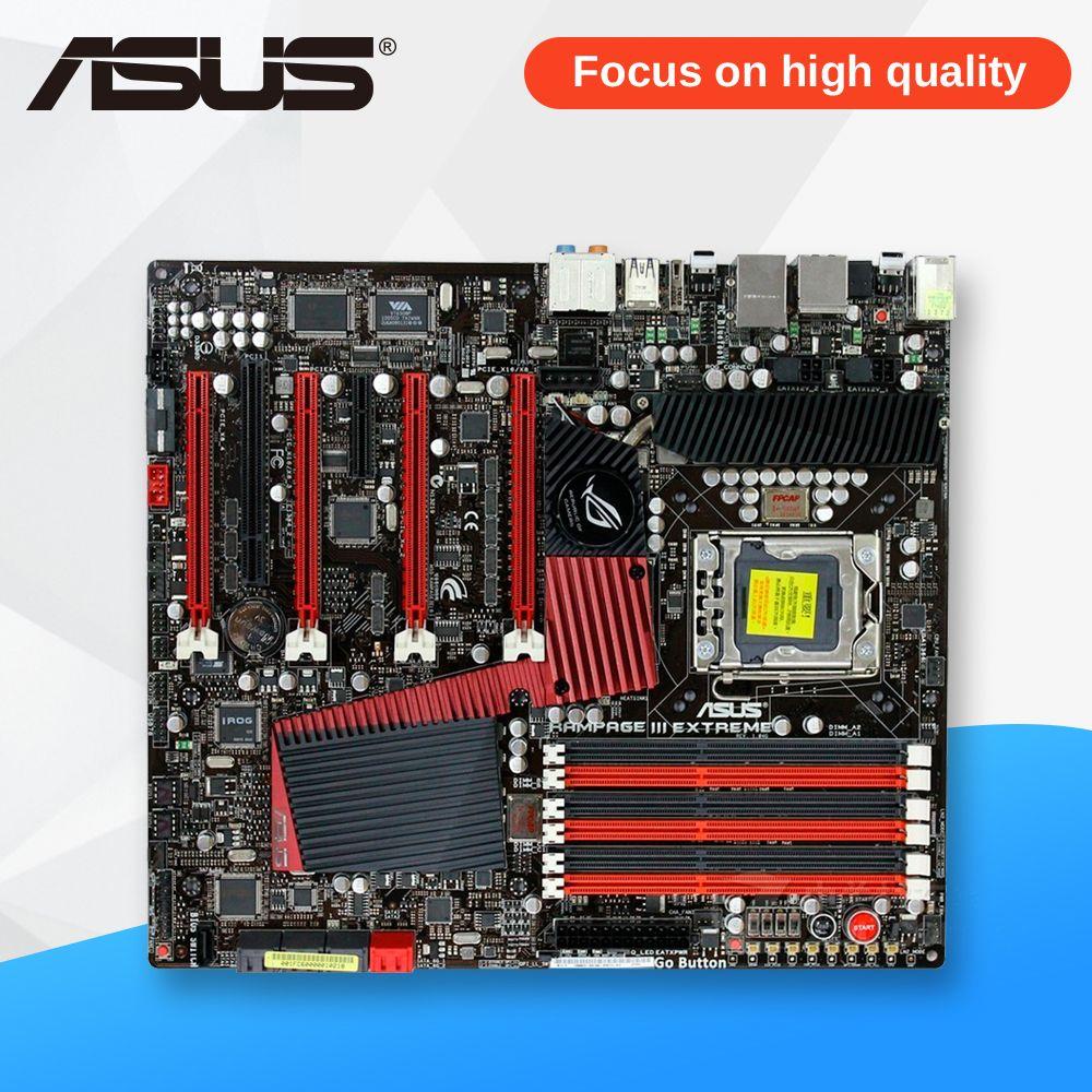 Asus Rampage III Extreme Desktop Motherboard R3E X58 Socket LGA 1366 i7 DDR3 24G SATA3 USB2.0 ATX
