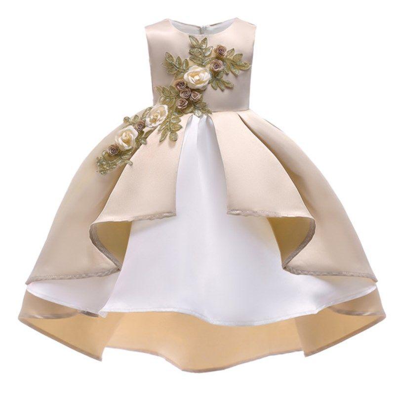 D'été De Noël Fleur Filles Robe Fille Vêtements Sans Manches Princesse Robes Fille Costume Enfants Vêtements