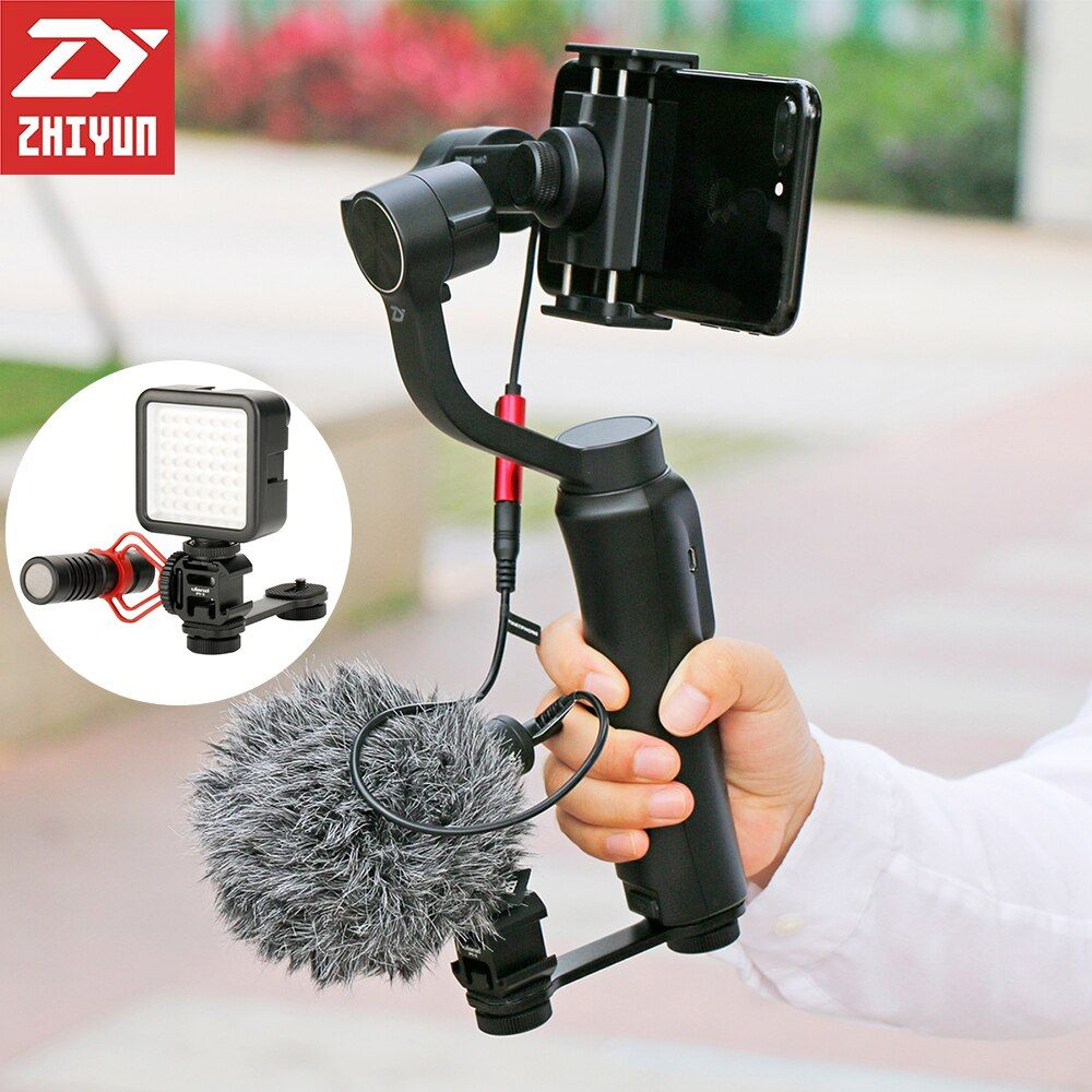 Smooth 4 ZHIYUN 3-Axis Handheld Gimbal Stabilizer Object Tracking Steadicam for iPhone X 7 Samsung Gopro hero SJCAM sport camera
