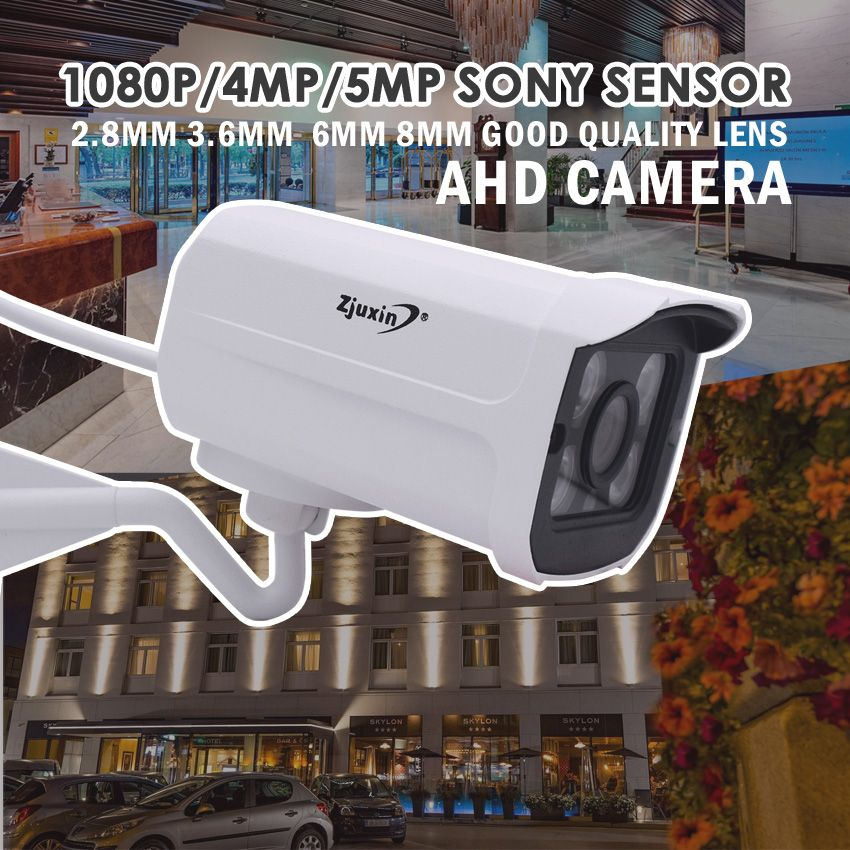ZJUXIN 1080P/4MP/5MP ahd camera 4pcs array LED SONY IMX323/OV4689/SONY326 solution use <font><b>2.8MM</b></font>/3.6MM/6MM/8MM/Manual 2.8-12mm Lens