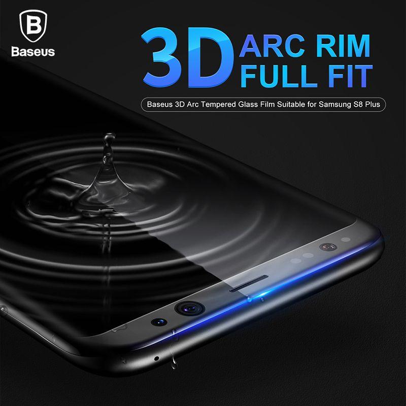 Baseus Protecteur D'écran Pour Samsung Galaxy S8 3D Arc Film En Verre Pour Samsung Galaxy S8 Plus Entièrement Recouvert de Verre Trempé film