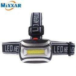 Nzk20 Mini Étanche 600Lm COB LED Phare 3 piles aaa Phare Vélo Head light avec Bandeau pour Camping Randonnée Vélo Enfants