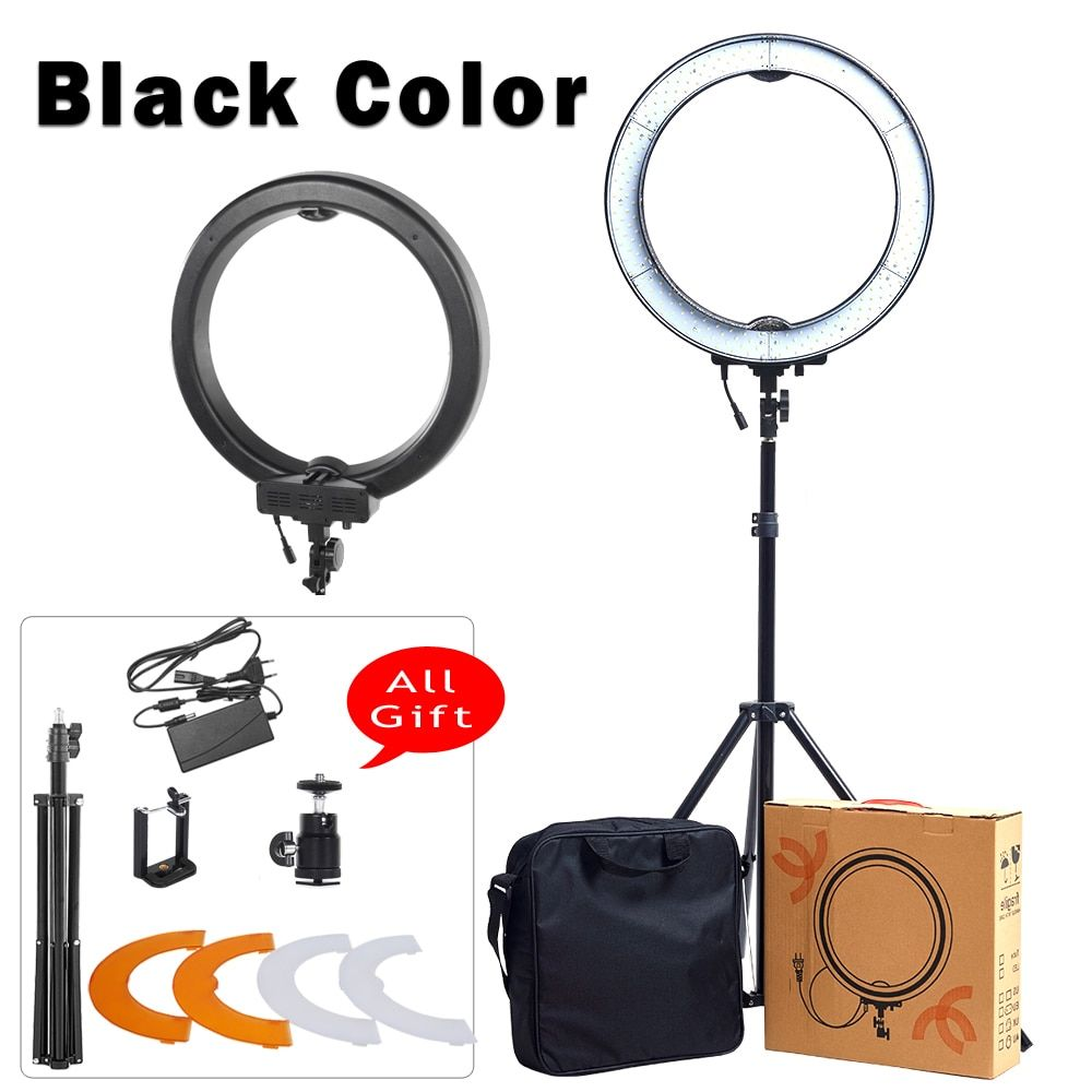 18'' LED Selfie Ring Light with Stand Photographic Makeup YouTube Lighting for Camera Photo Studio Phone Video Accessories Lamp