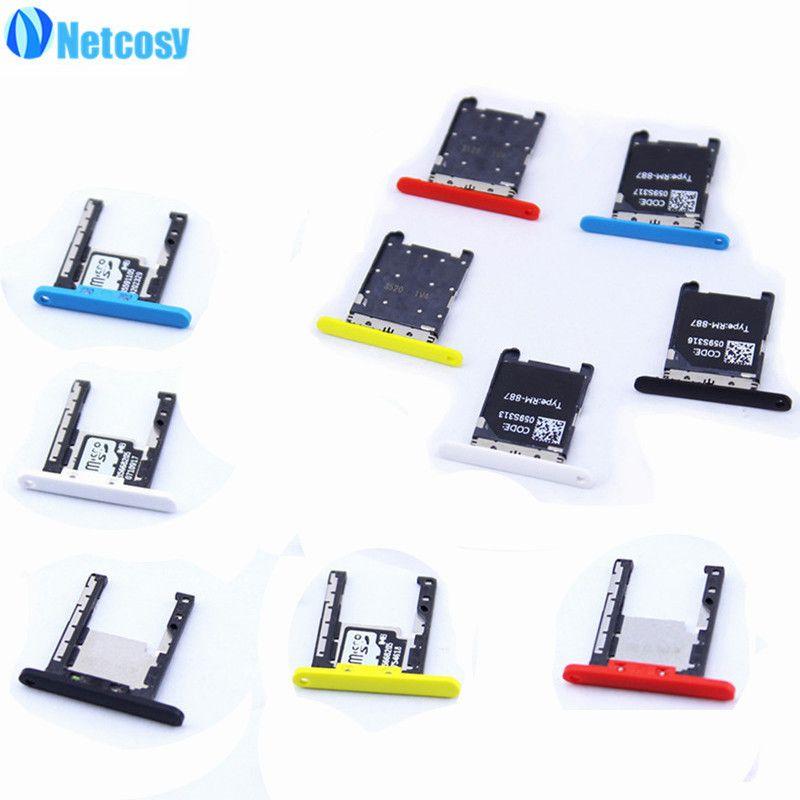 Netcosy Carte SIM + Carte SD Support de Bac à Sous pour Nokia Lumia 720 Pièces De Rechange De Réparation de Haute Qualité Téléphones Accessoires
