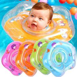 Natación accesorios cuello anillo tubo de seguridad niño flotar círculo para bañarse inflable Flamingo inflable bebida del agua