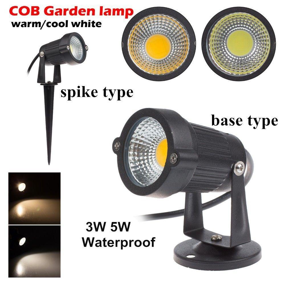 9W 7W 5W 3W LED LED de jardin Lampe 110 V 220V COB Extérieur de projecteur de Paysage avec la Base De Pointe IP65 Jardin Voie Lumière De Pelouse