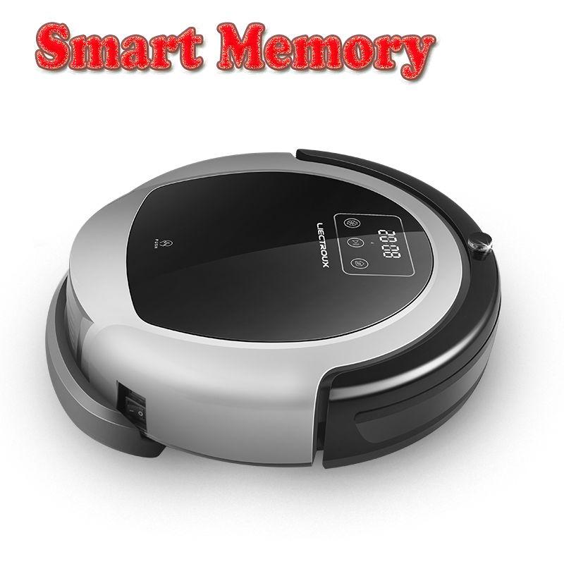 LIECTROUX Robot Vacuum Cleaner B6009,2D Map&Gyroscope Navigation,with Memory,Strong Suction,<font><b>Dual</b></font> UV Lamp,3D HEPA filter, Wet Mop