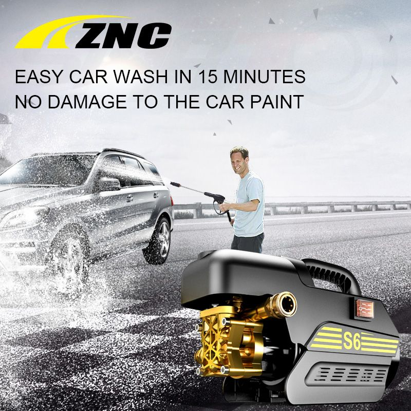 ZNC High Electric Pressure Car Washer High FLow 7LPM Self Suction Cleaning Self Suction Cleaning Machine High Pressure Gun Z6