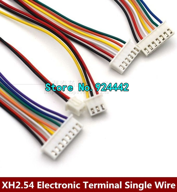 50PCS XH2.54-2/3/4/5/6/7/8/9/10P Electronic Terminal Wire Single Tin Long 30CM Cable XH2.54 2.54MM Connector 2/3/4/5/6/8/9/10Pin