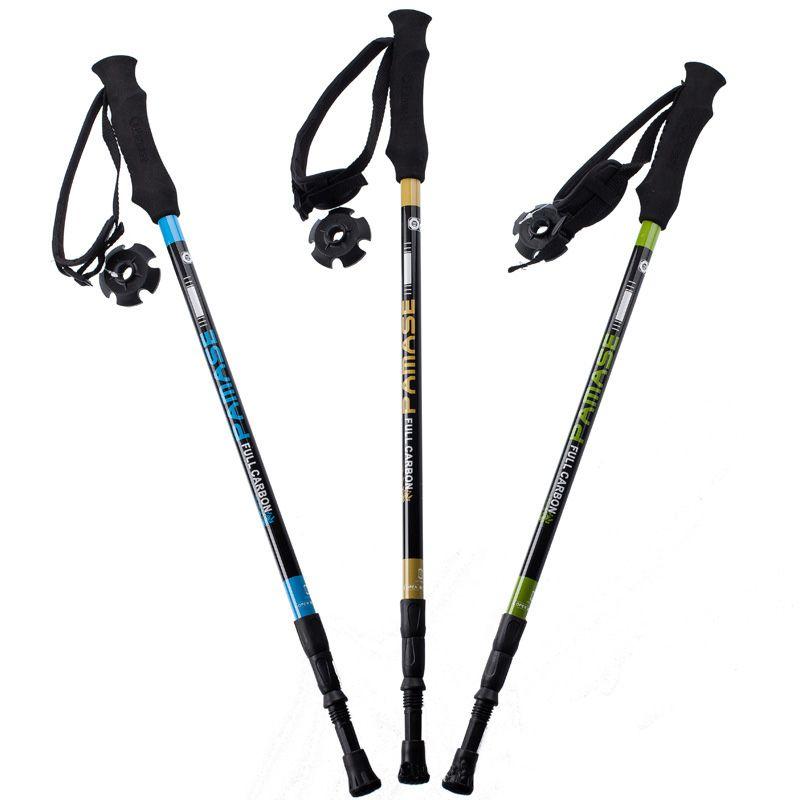 155 g/pc en fiber de carbone bâton de marche randonnée télescope bâton de marche nordique bâton pour les bâtons de trekking pôles canne