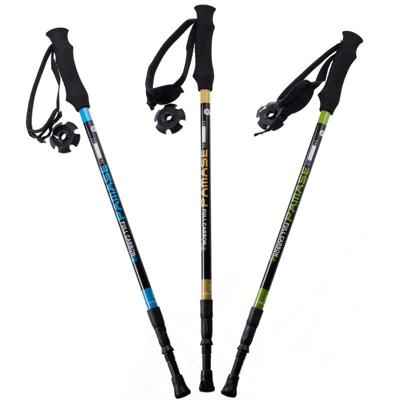 155g/pc carbon fiber walking stick hike telescope stick nordic walking stick for nordic walking poles trekking poles cane