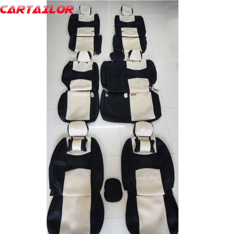 CARTAILOR seat covers for mitsubishi pajero sport 2011 2013 car seat cover accessories set ventilated mesh cover seats protector