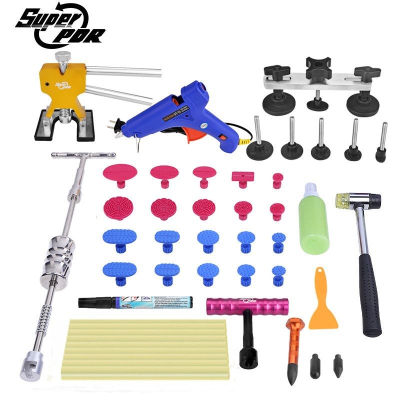 PDR Dent repair Tools kit dent lifter dent puller T-bar Scratches repair pen Paintless Dent removal hand tools