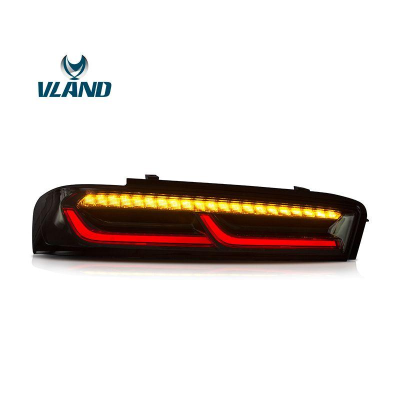 VLAND Fabrik Für Auto Schwanz Lampe Für Chevrolet Camaro LED Rücklicht 2015 2016 2017 2018 Camaro Mit LED Moving Signal rücklicht
