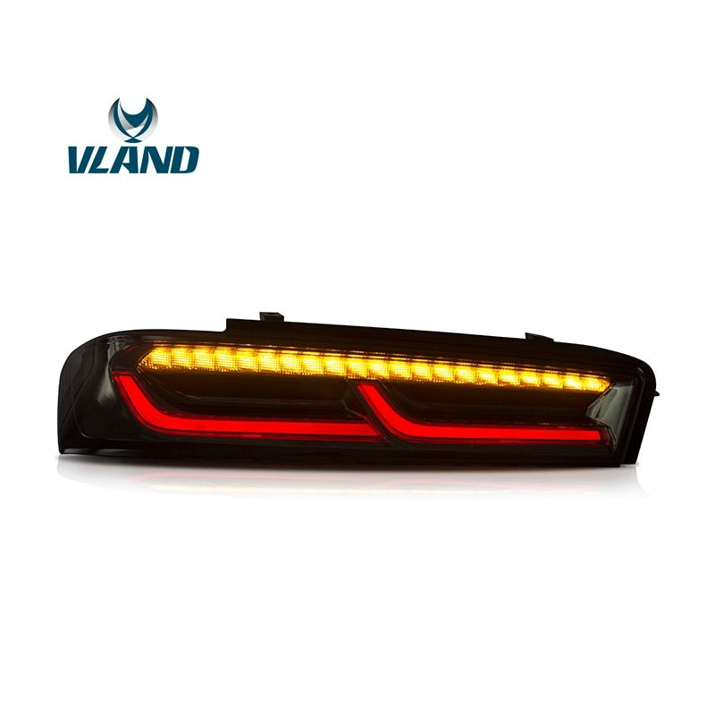 VLAND Factory For Car Tail Lamp For Chevrolet Camaro LED Taillight 2015 2016 2017 2018 Camaro With LED Moving Signal TailLight