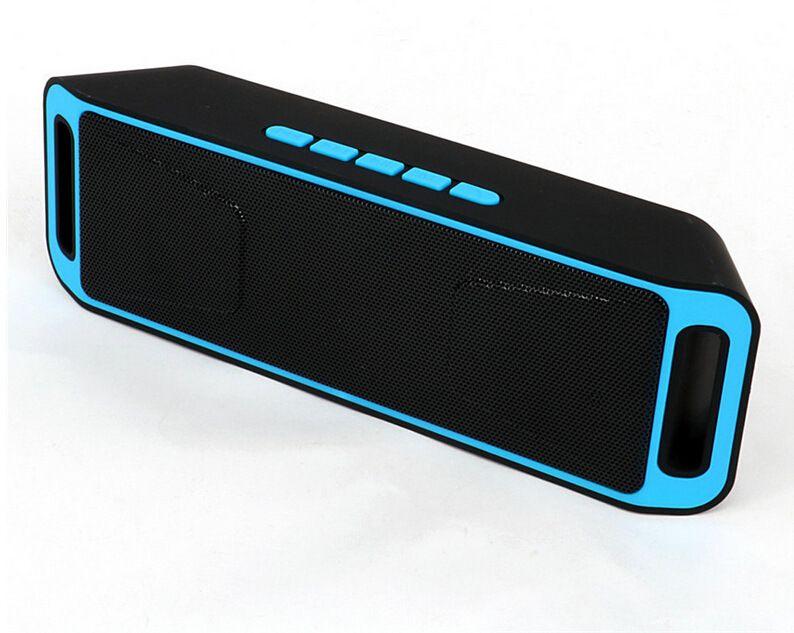 Haut-parleur Portable Bluetooth sans fil mini haut-parleur amplificateur stéréo Subwoofer haut-parleur TF USB FM Radio intégré micro double basse SP208