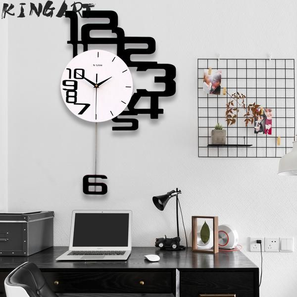 Large Wall Clock Digital Hanging Wall Watch Big Decorative Modern Design Wall Clocks Home Decor Digital Clock Wall For Bedroom