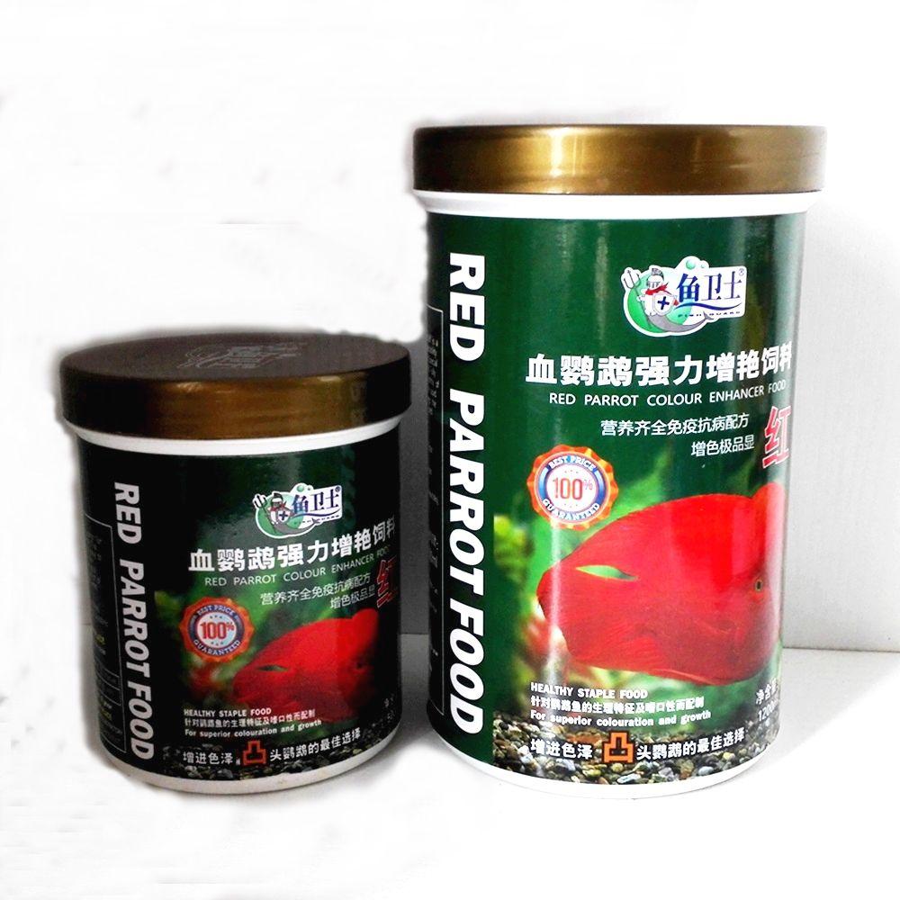 Aquarium Sain Flottant Poissons nourriture pour Rouge Perroquet de Sang Supérieure coloration Rapide Croissance Aliments Pour Animaux 500/1200 ml Granules 2 -4mm