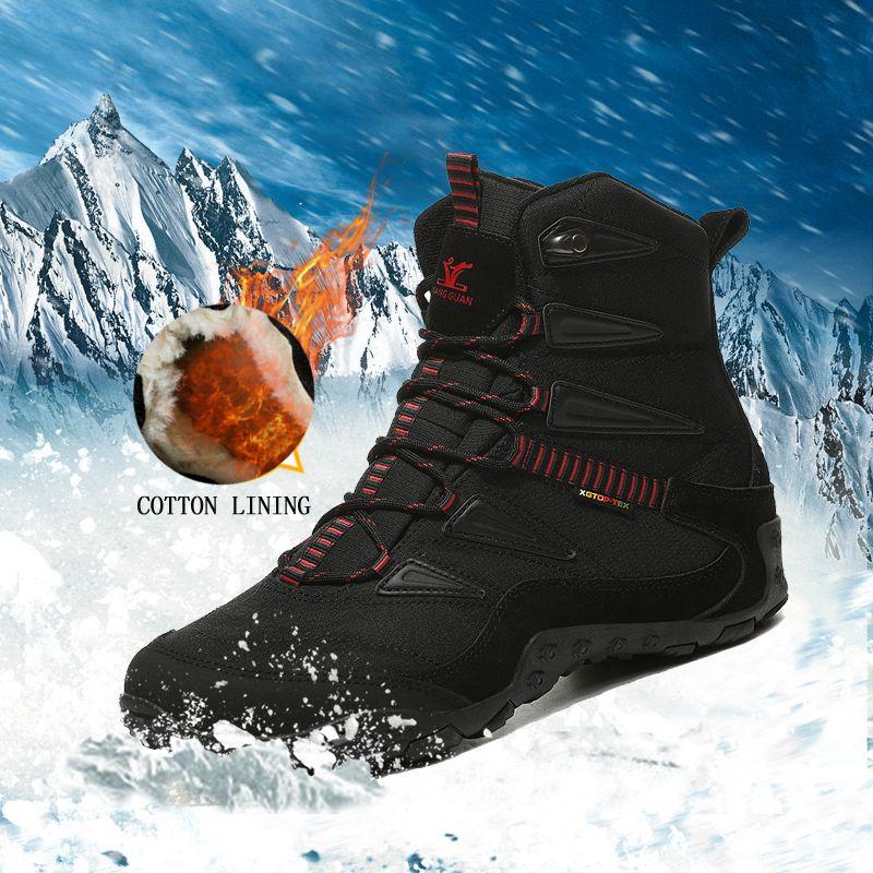 2018 neue winter männer outdoor sport schuhe anti slip sport schuhe männer baumwolle futter wandern schuhe für männer warme trekking schuhe frauen