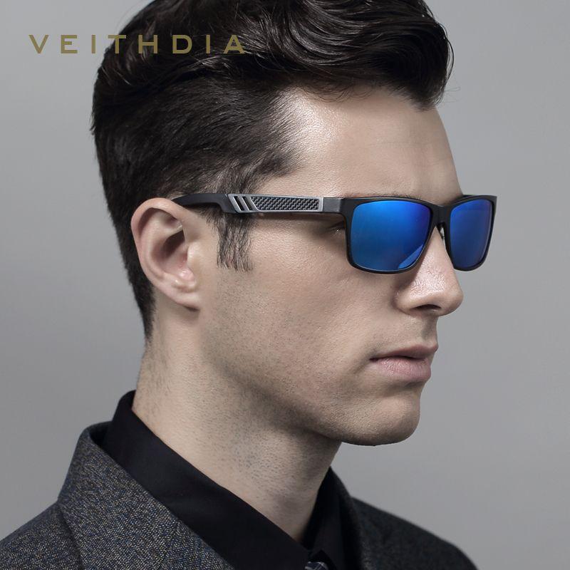 VEITHDIA Men's Aluminum Polarized Mens Sunglasses Mirror Sun Glasses Square Goggle Eyewear Accessories For Men Female gafas 6560