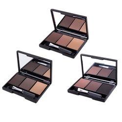 3 цвета пудра для бровей Палитра косметический бренд корректор для бровей профессиональный водонепроницаемый макияж тени для век с щеткой ...