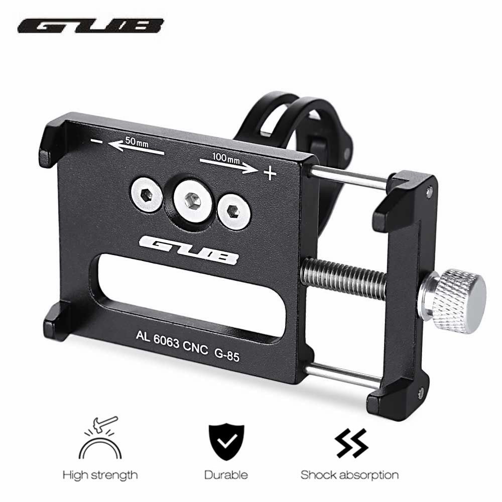GUB G-85 Adjustable Aluminium Alloy Bicycle Phone Holder Handlebar MTB Bike Bicycle Mobile Mount Holder Bracket Stand Cycling