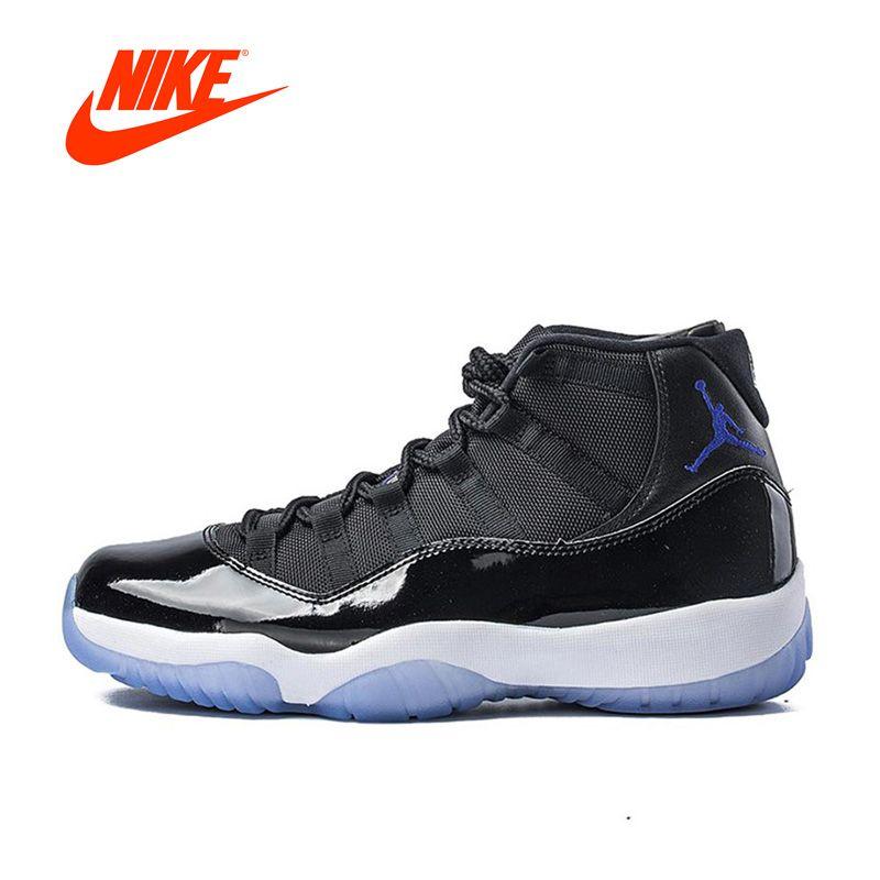 Original Neue Ankunft Authentic Nike Air Jordan 11 Space Jam Basketball-schuhe Breathable männer Sport Turnschuhe