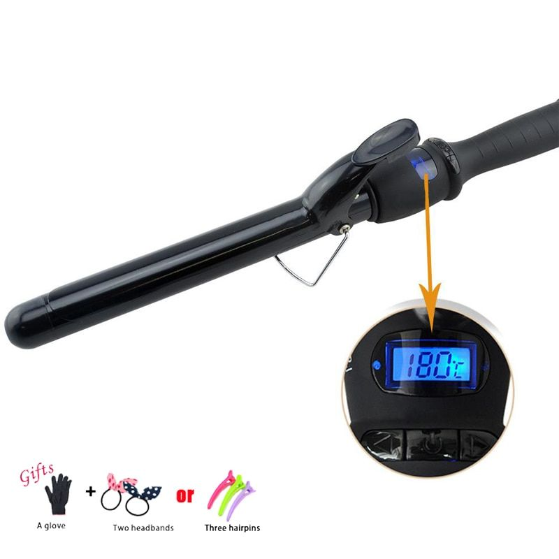 Ceramic Styling Tools LCD 38mm Pro Hair Curling Iron Digital Hair Curler Roller Hair Waver Magic Curling Wand Irons C10