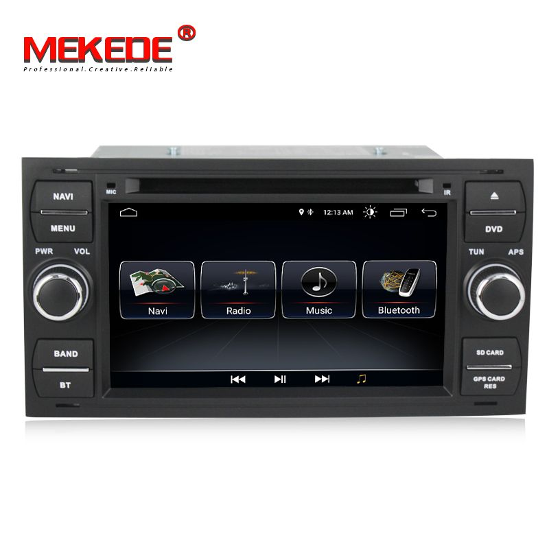 free shipping Android 8.0 Car DVD GPS Navi Player Stereo Radio Audio For Ford Focus 2 Mondeo S C Max Fiesta Galaxy Connect