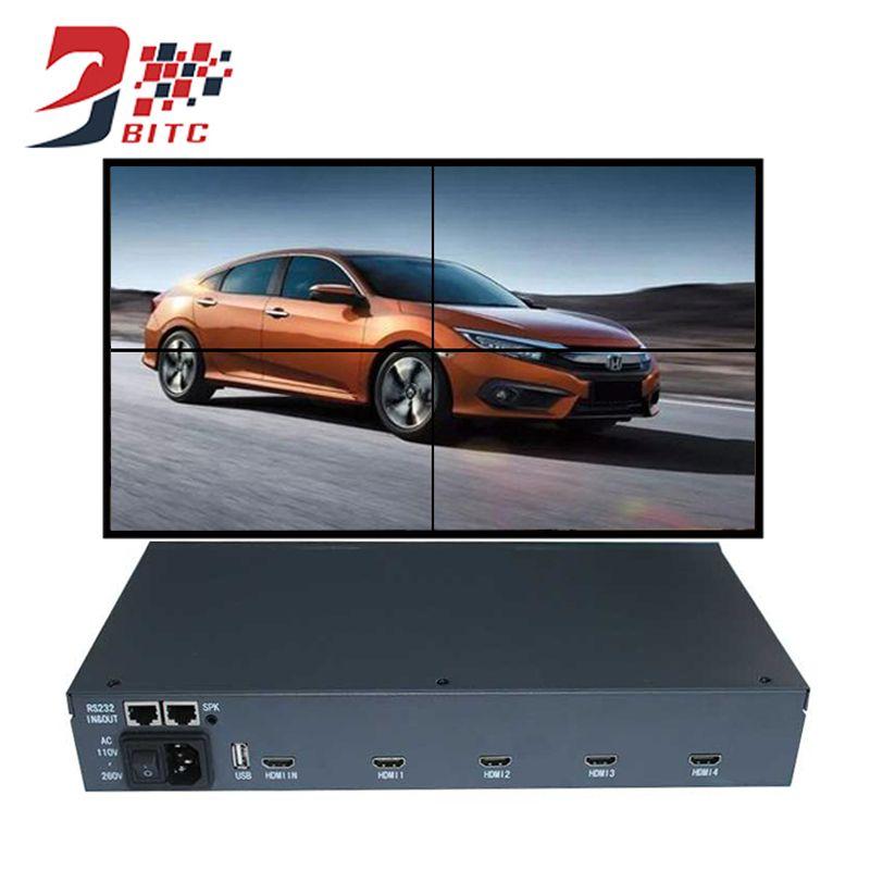 SZBITC Video Wand Controller 2x2 1080 P USB, AV, hdmi-eingang bild 180 grad Rotation nähte Spleißen prozessor RS232 Control