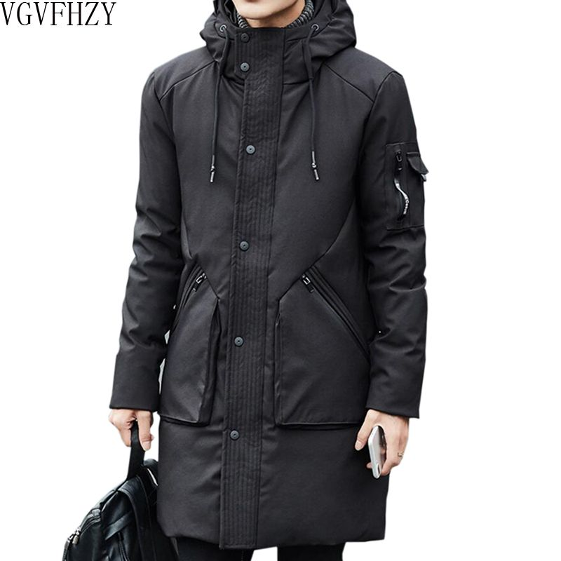 2018 NEW Men's 90% White Duck Thick Down Jackets Winter Warmed Hooded Snow Parkas Male fashion Brand Clothing Outerwear LY1177