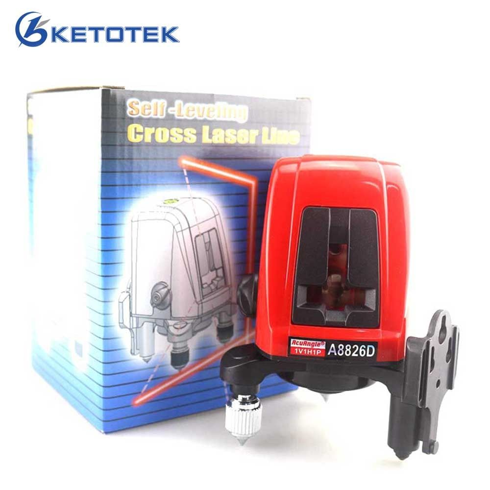 ACUANGLE A8826D Laser Level 360 degree Self- leveling Cross Laser Level Red Lines 1V1H1D 2 Line 1 Point Compatible with AK435