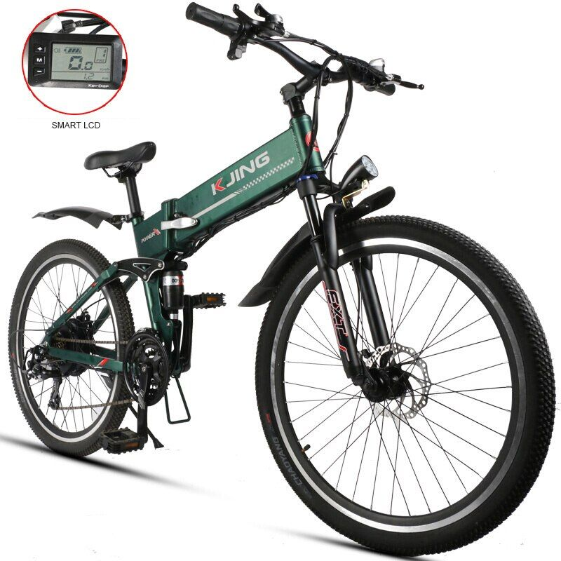 26inch fold electric mountain Ebike lightweig aluminum alloy 48V lithium battery in  frame 500w motor off-road riding fitness