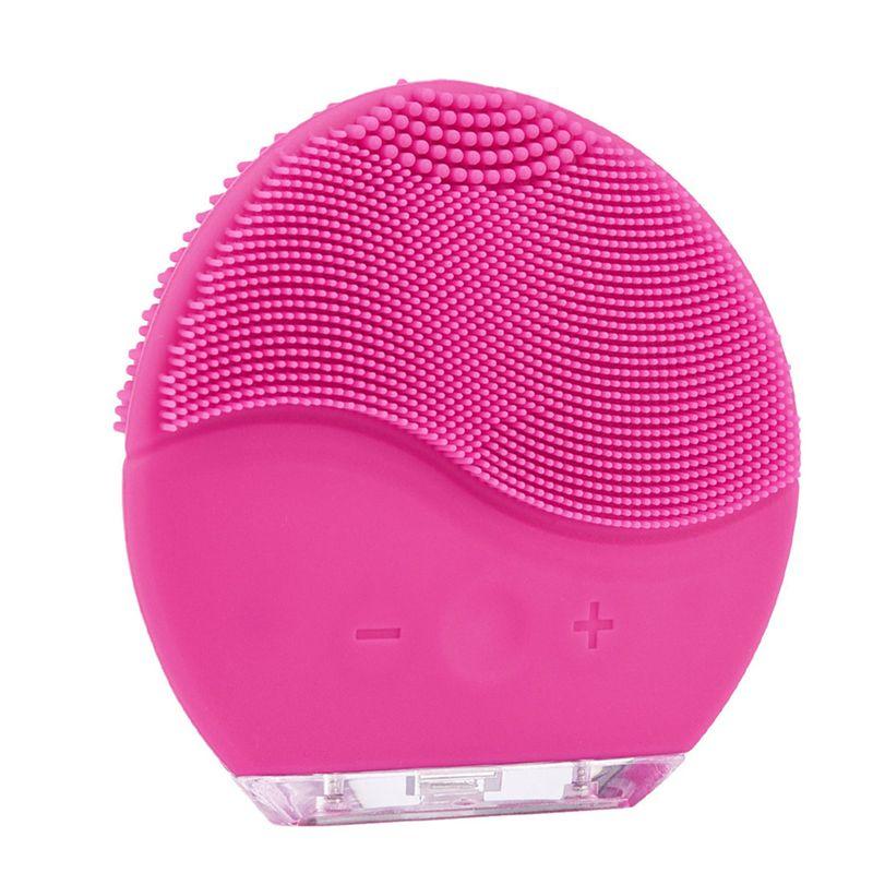 Limpieza du visage visage brosse de nettoyage Mini 2 Silicone Électrique Nettoyage Du Visage Brosse Supprimer Les Points Noirs Pores Nettoyant Étanche