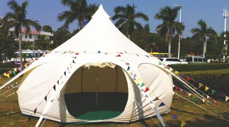 Новый Glamping Палатка Белл палатка лотоса шатер, роскошные палатки