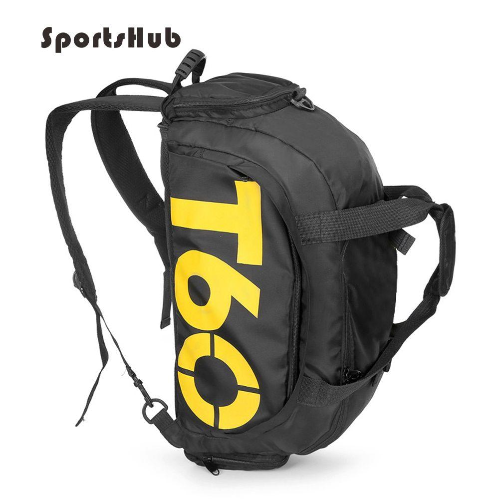 Sportshub Многофункциональный Для мужчин спортивные сумки Тренажерный зал рюкзак сумка разделены обувь хранения Фитнес сумка Открытый рюкзак ...