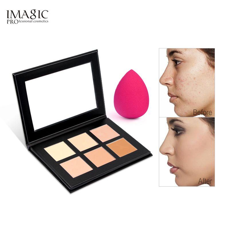 IMAGIC Crème Contour Palette Kit Pro 6 Couleurs Concealer Maquillage Palette Correcteur Visage Amorce pour tous les types de peau
