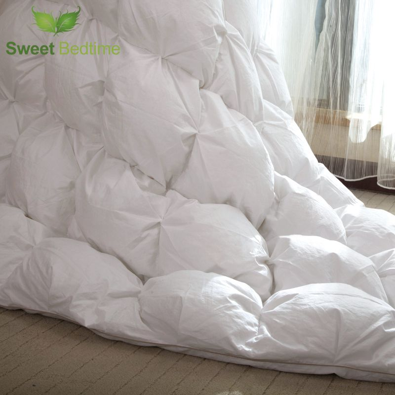hanging goose down Comforter core 1000 filling power sateen sticky down batist duvet inserts winter queen king twin quilts inner