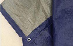 Ultra-léger 100g 3 m x 4 m bleu et gris bâche, court temps bâche imperméable à l'eau. en plein air chiffon à poussière. toile
